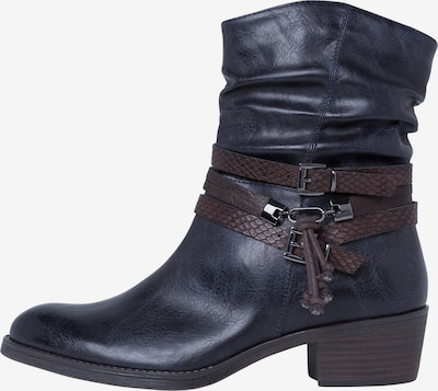 MARCO TOZZI Stiefelette in navy: Frontalansicht