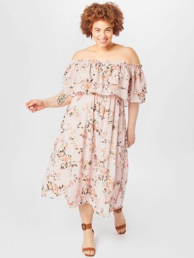 ABOUT YOU Curvy Kleid 'Celia' in mischfarben / rosa: Frontalansicht