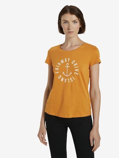 TOM TAILOR DENIM Shirt in de kleur Sinaasappel: Vooraanzicht