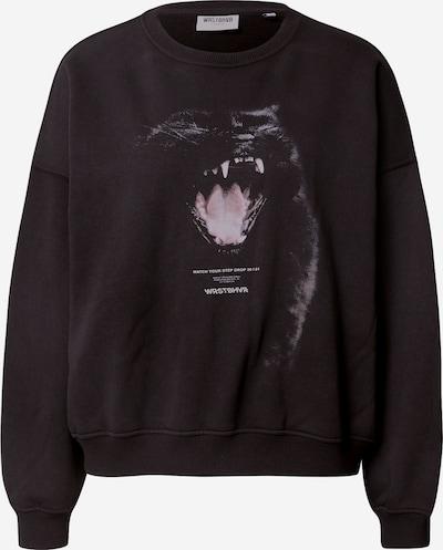 Worst Behavior Sweatshirt 'Savage' in hellgrau / rosé / schwarz, Produktansicht