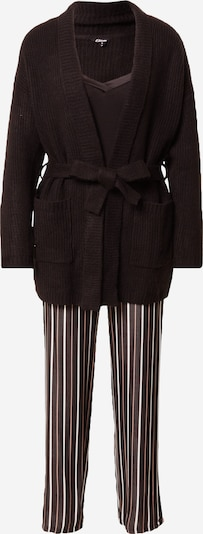 ETAM Pyjamas 'HAYLEM' i svart / vit, Produktvy