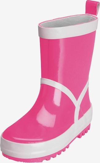 PLAYSHOES Gummistiefel in pink / weiß, Produktansicht