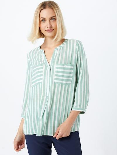 Bluză TOM TAILOR pe mentă / alb, Vizualizare model