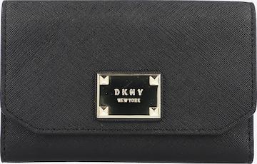 DKNY Geldbörse Leder 13 cm in Schwarz