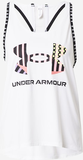 Sport top 'Geo' UNDER ARMOUR pe mov deschis / roz deschis / negru / alb, Vizualizare produs