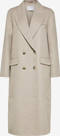 Selected Femme Curve Płaszcz przejściowy 'Tanja' w kolorze beżowy