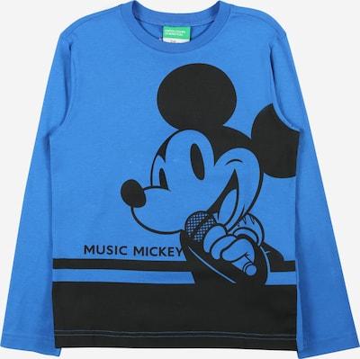 Tricou UNITED COLORS OF BENETTON pe albastru / negru, Vizualizare produs