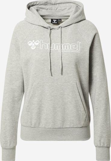 Hummel Hoodie in graumeliert / weiß, Produktansicht