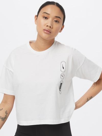 PUMA T-shirt en noir / blanc: Vue de face
