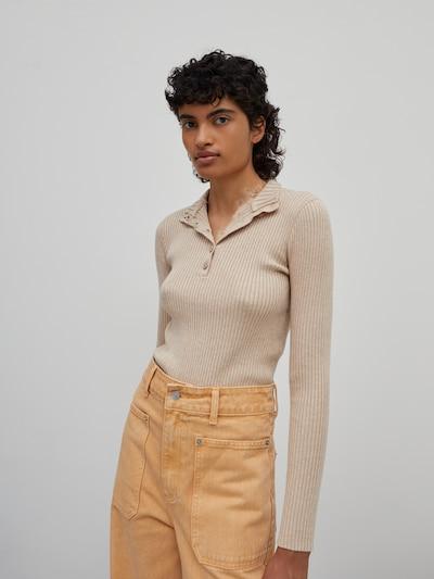 EDITED Pull-over 'Promise' en beige chiné, Vue avec modèle