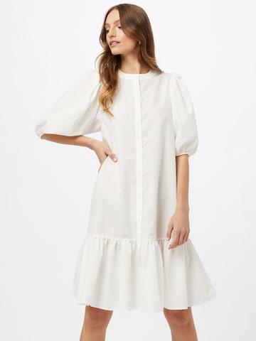 Gina Tricot Shirt Dress 'Slogan' in White