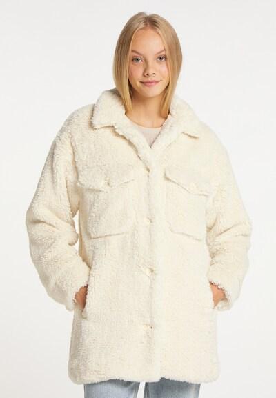 taddy Mantel in wollweiß, Modelansicht