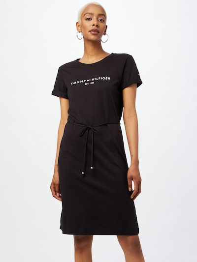 Rochie TOMMY HILFIGER pe negru / alb, Vizualizare model