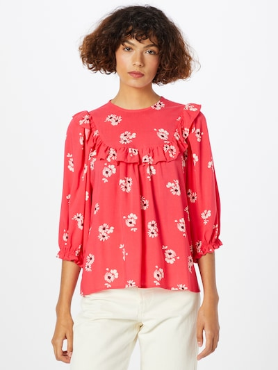 NEW LOOK Blouse 'DESIREE' in Red / Black / White, View model