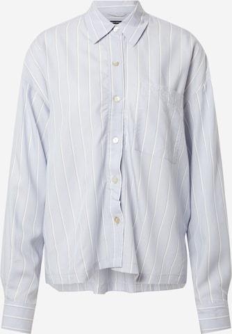 Marc O'Polo Bodywear Pajama Shirt in Blue