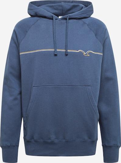 Cleptomanicx Sweat-shirt 'Möwe Pufflines' en bleu / jaune / blanc, Vue avec produit