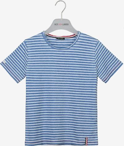Key Largo Rundhals-Shirt in blau / weiß, Produktansicht
