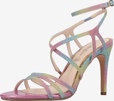 BUFFALO Sandale in hellblau / hellgelb / hellgrün / fuchsia, Produktansicht