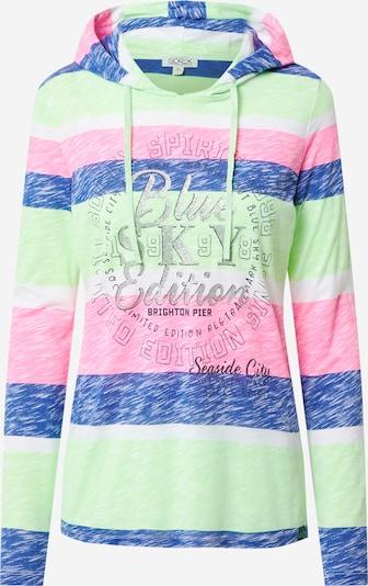 Tricou Soccx pe albastru / verde / roz / negru / argintiu, Vizualizare produs