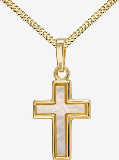 JEVELION Kreuzanhänger 585 Gold + Kette in gold, Produktansicht