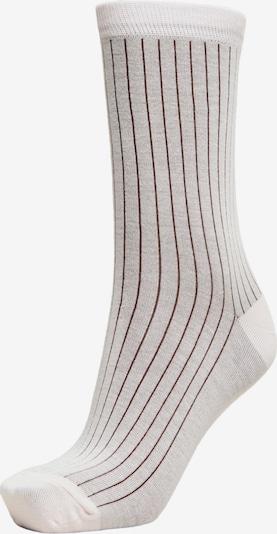 SELECTED Socken in hellgrau / schwarz / weiß, Produktansicht