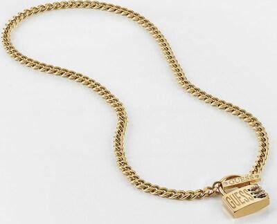 GUESS HALSKETTE 'LOCK ME UP' in goldgelb, Produktansicht
