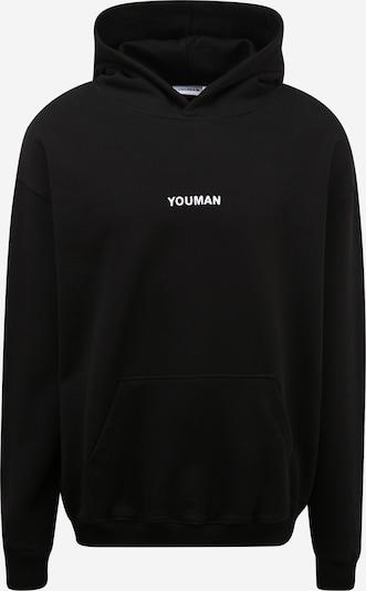 Youman Sweater majica 'Joe' u crna / bijela, Pregled proizvoda