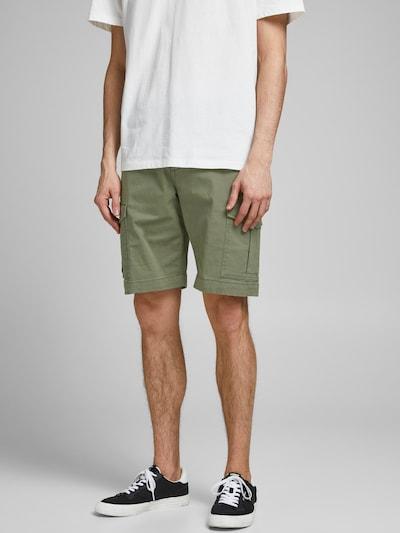 JACK & JONES Pantalon cargo 'JOE' en olive, Vue avec modèle