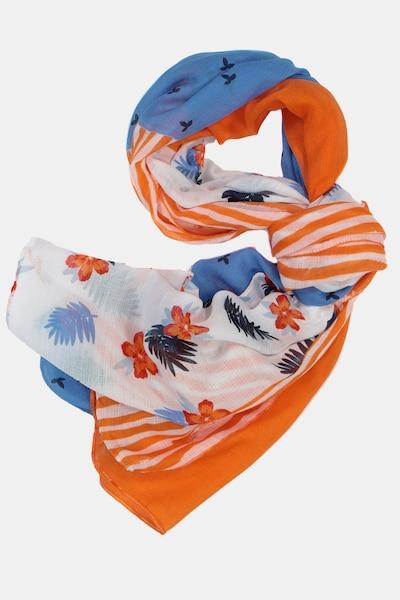 Gina Laura Schal in blau / orange / weiß, Produktansicht
