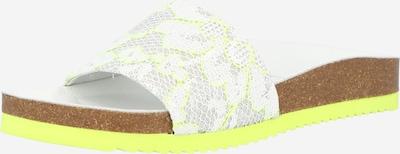 SUNSHINE Mule 'Jenny' en jaune fluo / gris clair / blanc, Vue avec produit