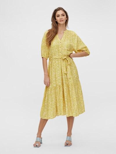 OBJECT Košulja haljina 'Hessa' u bež / žuta / bijela, Prikaz modela