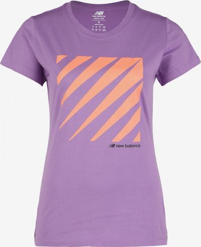 new balance T-shirt en violet clair / orange / noir, Vue avec produit