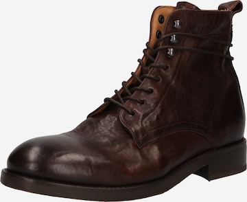 Hudson London Lace-Up Boots 'YEW' in Brown