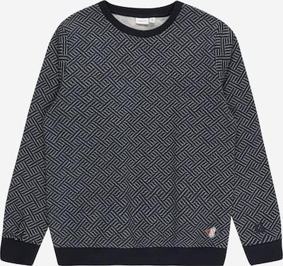 NAME IT Sweatshirt 'NAMEN' in navy / hellgrau / weiß, Produktansicht