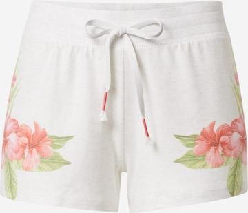 PJ Salvage Schlafhose 'Flowers' in Weiß