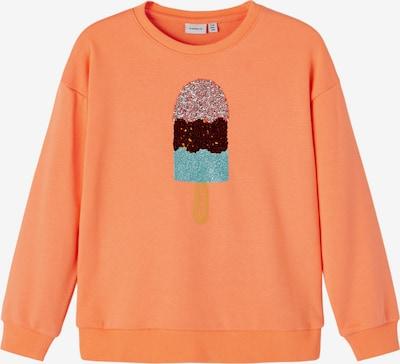 NAME IT Sweat-shirt 'Huyun' en jade / corail / rouge foncé, Vue avec produit