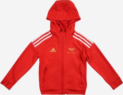 Bluză cu fermoar sport ADIDAS PERFORMANCE pe auriu / roșu / alb, Vizualizare produs
