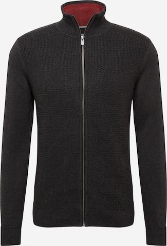 TOM TAILOR Knit Cardigan in Grey