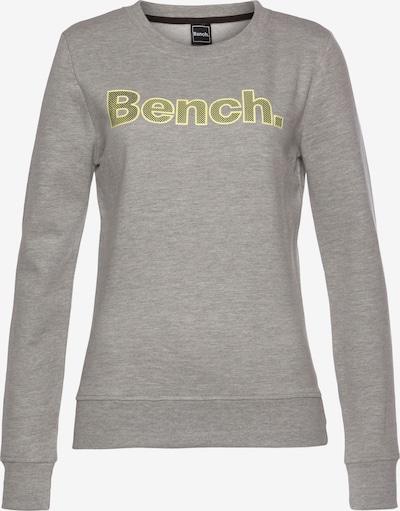 BENCH Sweatshirt in neongelb / graumeliert / schwarz, Produktansicht