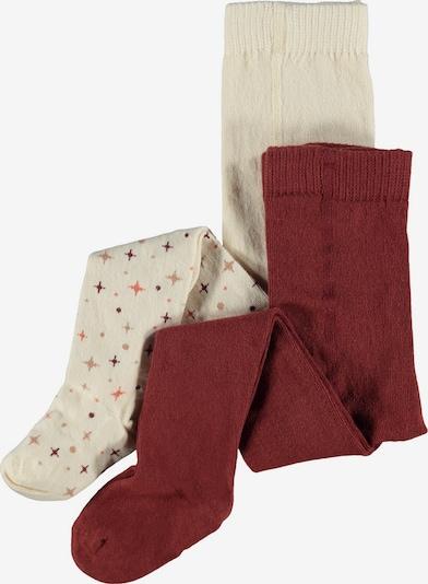 NAME IT Panty's 'Vibe' in de kleur Crème / Gemengde kleuren / Bloedrood, Productweergave