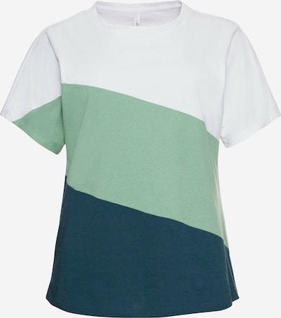 Tricou SHEEGO pe bleumarin / verde pastel / alb, Vizualizare produs