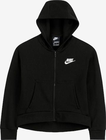 Nike SportswearFlis jakna - crna boja