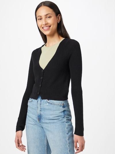 American Eagle Плетена жилетка в черно, Преглед на модела