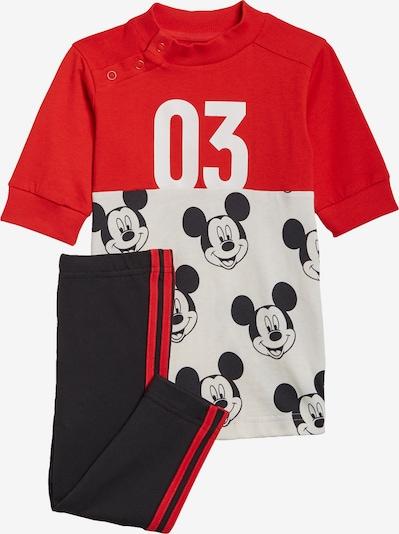 ADIDAS PERFORMANCE Set 'Mickey Mouse' in rot / schwarz / weiß, Produktansicht