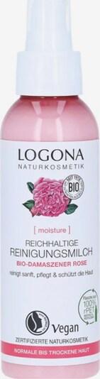 Logona Reinigungsmilch 'Bio-Damaszener Rose & Kalpariane Reichhaltige' in weiß, Produktansicht
