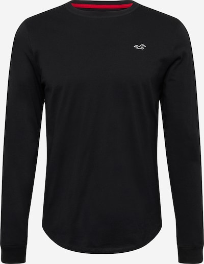 HOLLISTER T-Shirt en noir / blanc, Vue avec produit