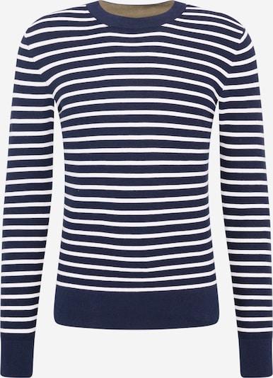 Casual Friday Пуловер 'Karlo' в нейви синьо / бяло, Преглед на продукта