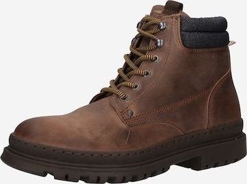 JACK & JONES Lace-up boot 'STATHAM' in Brown
