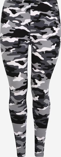 Leggings 'Ladies Camos' Urban Classics Curvy pe gri / negru / alb, Vizualizare produs