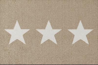 wash+dry Fußmatte 'Design Stars' in beige / schwarz / weiß, Produktansicht